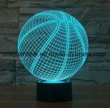 des Schreibtisch-3D Beleuchtung Lampen-Basketball-Nachtdes licht-LED