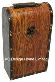 El diseño de sellos decorativos impresión doble de cuero de PU/caja de vino de almacenamiento de madera MDF