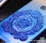 Gradiente de 2017 cubierta azul de la caja del teléfono celular del nuevo 3D Rose para el iPhone 6s /6s más iPhone7/7 más