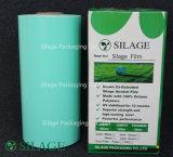 película verde do envoltório da ensilagem 500mm*1800m*25mic para balas redondas da ensilagem