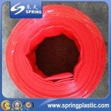 Tubo flessibile rosso di scarico dell'acqua del PVC Layflat per irrigazione