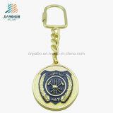 L'oro antico imprime l'oro Keychain del metallo dello smalto di Panit per promozionale
