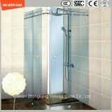 Glace Tempered réglable du bâti 6-12 d'acier inoxydable et d'aluminium glissant la pièce de douche simple, pièce jointe de douche, cabine de douche, salle de bains, écran de douche