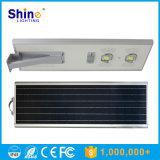 Luz de rua solar de alumínio longa da bateria de lítio do tempo de descarga 70W
