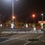 Area di parcheggio esterna che fa pubblicità a Alu. Comitato solare del tabellone per le affissioni del blocco per grafici con la casella chiara di Scrolling LED della batteria
