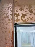 Quarto de chuveiro de vidro do compartimento luxuoso do chuveiro da tela do cerco do chuveiro do frame de aço de Stiamless do ouro de Rosa