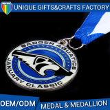 스포츠를 위한 주문 고품질 방아끈 금속 메달