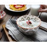 일본식 다색 밥 사발 식기류