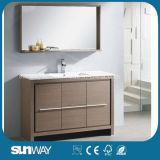 Hot Sale MDF Mélamine Surface Meuble de salle de bains avec miroir (SW-ML1202)