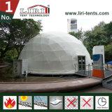 Demi de sphère De revêtement en PVC de tente blanche de dôme géodésique à vendre