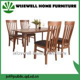 純木の高い背部食事の椅子