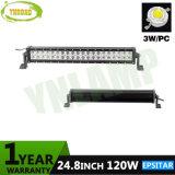 24.8pouces barre lumineuse à LED 120W avec led Epistar pour le camion