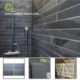 Het Behandelen van de Muur van de badkamers de Geslepen Natuurlijke Zwarte Lei van de Oppervlakte met Beste Prijs