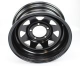 Il nero uno Spoke delle 5 dell'aletta del foro del metallo rotelle del veicolo di trasporto borda il cerchione del rimorchio