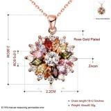 Het Draperen van de Manier van de buitenlandse Handel van Halsband van de Tegenhanger van de Charme Zircon van Bloemen de Kleurrijke