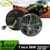 36W 7 pulgadas - de alto/bajo emitir la linterna del CREE LED Jk para el jeep