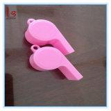Os presentes relativos à promoção baratos personalizaram o assobio plástico cor-de-rosa por atacado