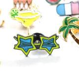 Speld van de Broche van de Zonnebril van de Kokospalm van het Vruchtesap van de Watermeloen van het Roomijs van Leiiy de Epoxy Oranje