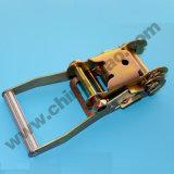 A catraca do poliéster amarra para baixo a cinta da curvatura para a chicotada da carga