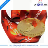 2017カスタム高品質リボンが付いているより安い選手権の金または銀の青銅色のスポーツメダル