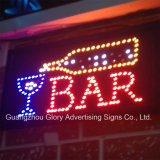 Bar abierto Flashingboards signo de la barra de LED