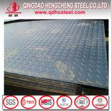 Placa de aço Checkered laminada a alta temperatura de carbono da boa qualidade