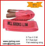 imbracatura di sollevamento 3t X 2m della tessitura del poliestere giallo 3t (personalizzato)