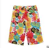 Le dernier style de pantalon imprimé floral brillant Pantalon de plage