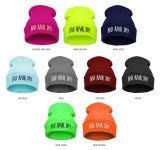 Basic fácil estilo bordados tejidos de punto tejido Hat