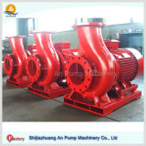 Pompe centrifuge horizontale centrifuge d'eau de mer de lutte contre l'incendie d'étape simple