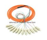Coleta agrupada óptica con varios modos de funcionamiento de fibra de Sc/Upc milímetro 12cores