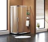 Pièce jointe en aluminium de douche de cabine de douche de profil avec des glaces d'étagère
