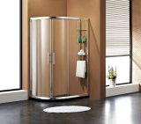 Perfil de alumínio cabina de chuveiro Chuveiro Gabinete com óculos de prateleira