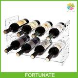 Porte-bouteille en acrylique clair Porte-bouteille de vin