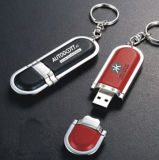 Carte mémoire Memory Stick en cuir USB de Pendrives de carte de flash USB de la carte mémoire USB 2.0 du disque instantané USB de Pendrives de clé de mémoire USB d'unité centrale de logo d'OEM de pouce de lecteur flash USB