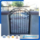 Qualität haltbares schwarzes Wrough Eisen-Gatter im Gitter-Entwurf