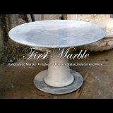 Tableau de marbre blanc pour la décoration Mbt-1182 de jardin
