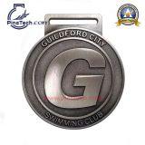 カスタムフットボールのスポーツメダルのための自由なアートワークそしてMOQ無し、受諾可能なPaypal