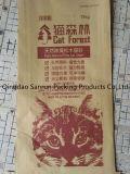 Bolsa de papel de empaquetado de Kraft para la litera de gato