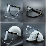 Protetor de face com a viseira do PVC montada com a tela universal do suporte do ABS do capacete de segurança com beira de alumínio (FS4013)