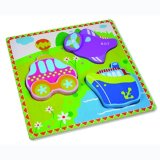 Houten Puzzle voor Baby met Vehicles (80631-2)