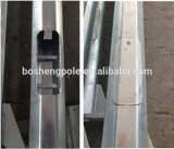 Double bras Street Light Steel Pole