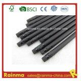 Negro de madera del lápiz 12 PCS en la caja de papel Negro Embalaje