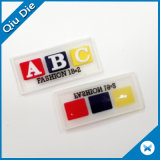 Reparo gravado da correia/vestuário do PVC Patchfor do couro da letra 3D etiqueta feita sob encomenda