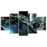 5 het Schilderen van het Decor van de Muur van het Huis van de Valk van het Millennium van Star Wars van de Film van PCs het Schilderen van het Af:drukken van de Kunst HD van het Canvas het Beeld van de Muur van het Canvas voor het Decor van het Huis