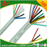 VDE This Approval H03VV-F 2*0.5mm2 2*0.75mm2 PVC Textile Insulation Black Braided Fabric Wire
