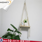 Вешалка завода Macrame веревочки полиэфира Handmade, держатель, плантатор для домашнего декора