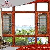 Casement de alumínio contra-roubo residencial gama alta/toldo Windows com rede de mosquito