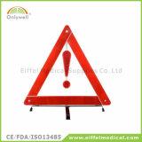 Aviso reflexivo do triângulo da segurança do carro dos primeiros socorros