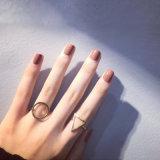De vrouwen vormen de Ring van de Vinger van Baguette van het Roestvrij staal van Juwelen